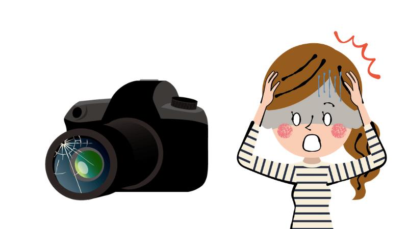 カメラの破損
